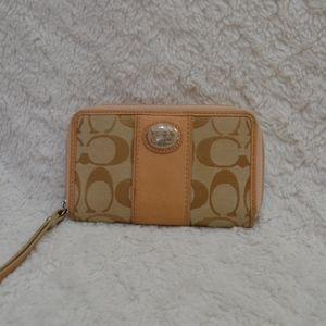 Coach small zip around wallet